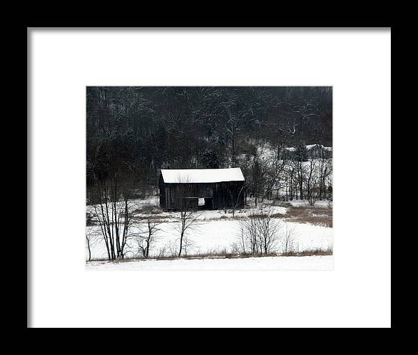 Barn Framed Print featuring the photograph Abandoned Barn by Martie DAndrea