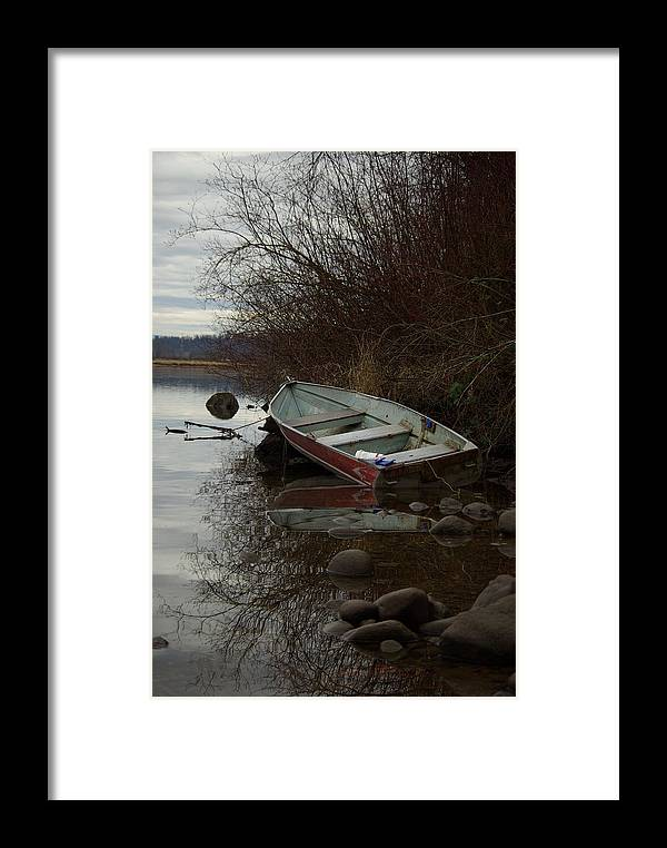 Abandoned Framed Print featuring the photograph Abandoned Boat by Cindy Johnston