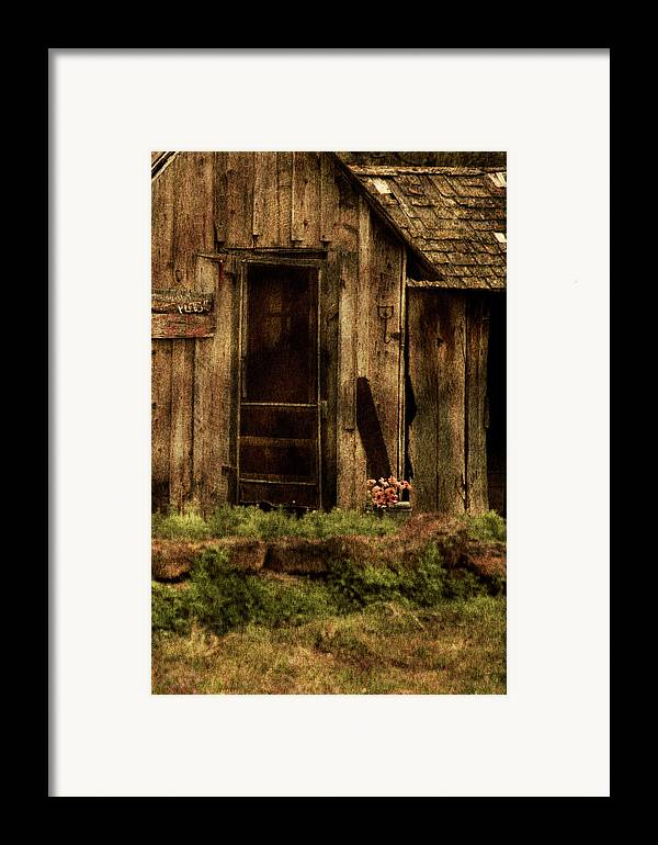 Old Home Framed Print featuring the photograph Abandoned by Bonnie Bruno