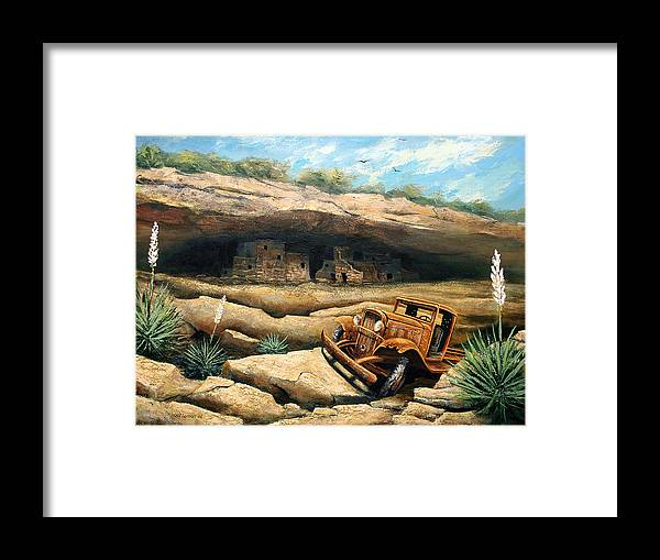 Landscape Framed Print featuring the painting Abandoned by Brooke Lyman
