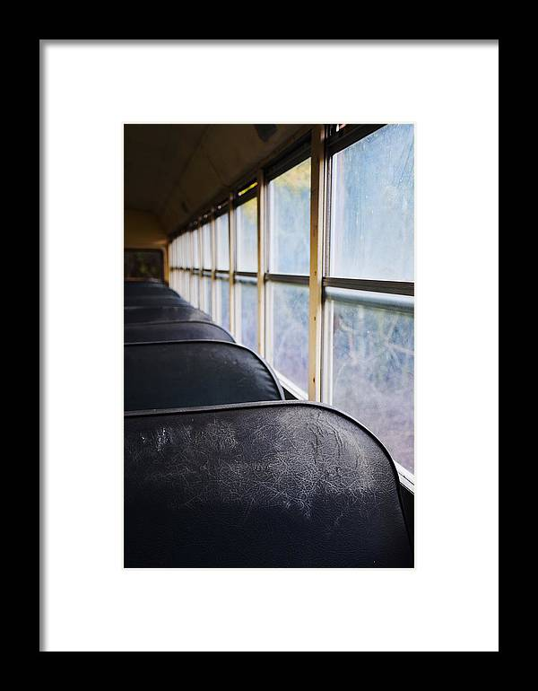Framed Print featuring the photograph Abandoned Bus by Emily Miller