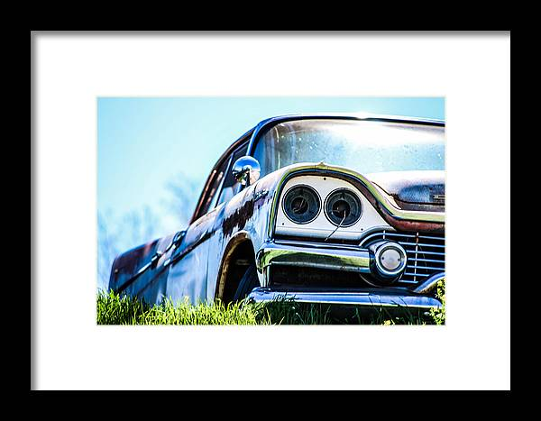 Car Framed Print featuring the photograph Abandoned Car by McKinzi Gulickson