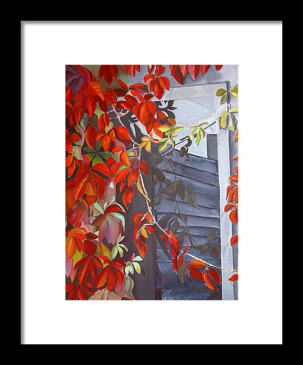 Vine Framed Print featuring the painting Abandoned by Diana Davenport
