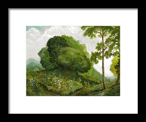 Landscape Painting Framed Print featuring the painting Abandoned Garden by Michael Scherer