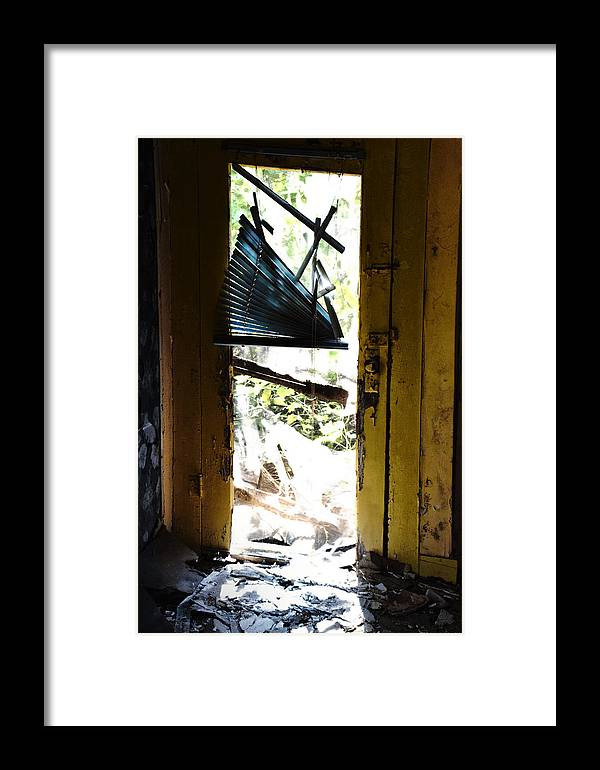 Framed Print featuring the photograph Abandoned House by Emily Miller