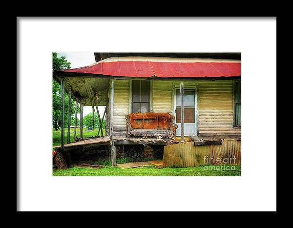 Front Porch Framed Print featuring the photograph Abandoned House by John Myers