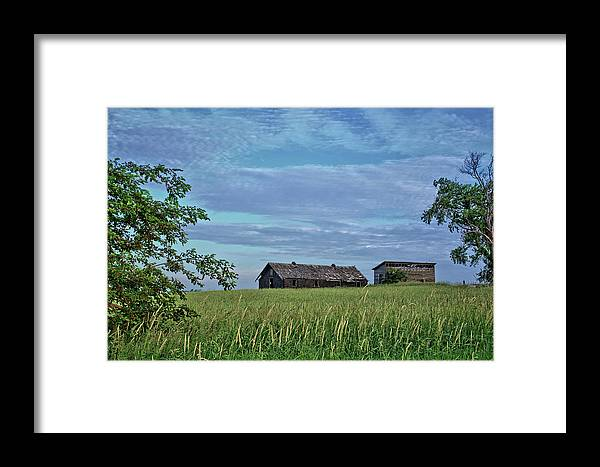 Grass Framed Print featuring the photograph Abandoned In Grass by Bonfire Photography