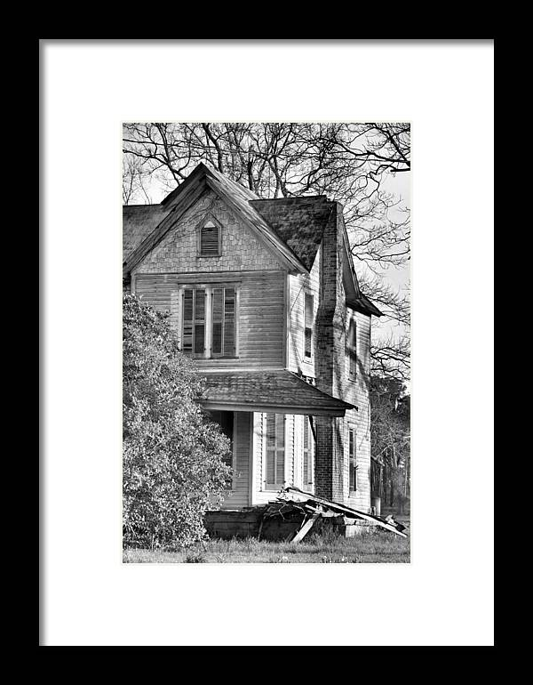 Architectural Framed Print featuring the photograph Abandoned by Jan Amiss Photography
