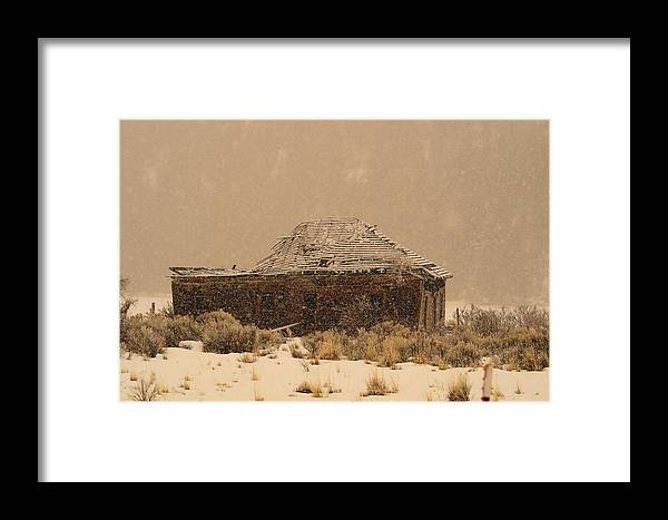 Cabin Framed Print featuring the photograph Abandoned by Jolene Smith