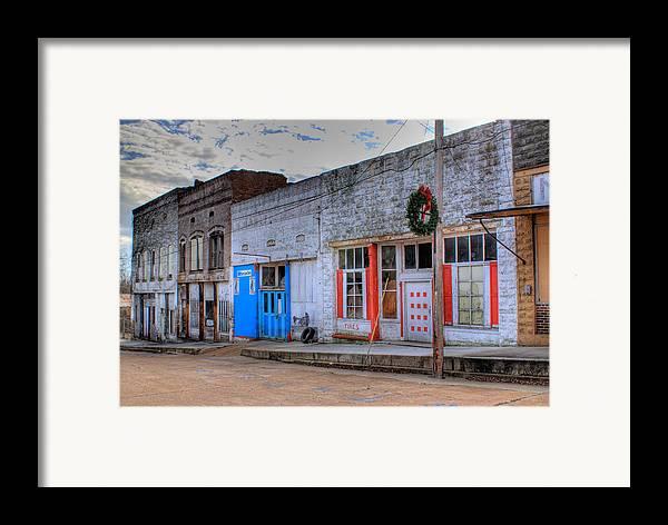 Abandoned Framed Print featuring the photograph Abandoned Main Street by Douglas Barnett