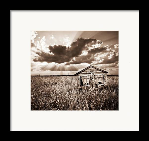 Shack Framed Print featuring the photograph Abandoned by Meirion Matthias