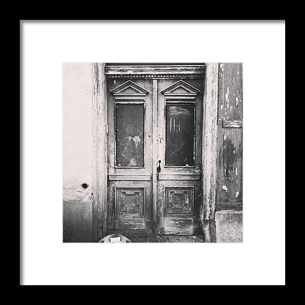 Lostplaces Framed Print featuring the photograph #abandoned #monochrome #sonneberg by Mandy Tabatt