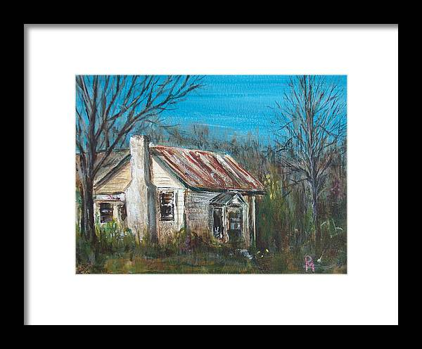House Framed Print featuring the painting Abandoned by Pete Maier