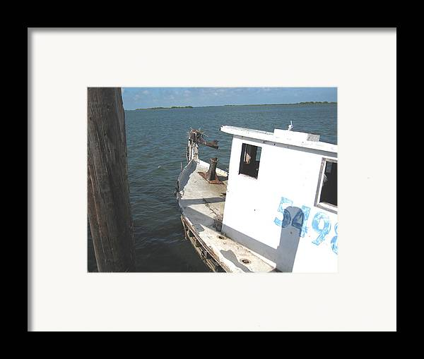 Boat Framed Print featuring the photograph Abandoned Shrimpboat by Wendell Baggett