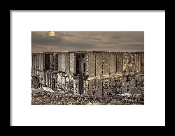 Abandoned Framed Print featuring the photograph Abandoned Station by Lyudmila Prokopenko