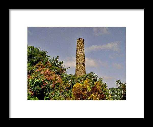 Nevis Framed Print featuring the photograph Abandoned Sugar Factory Nevis by Louise Fahy
