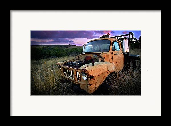 Truck Framed Print featuring the photograph Abandoned by Tim Nichols