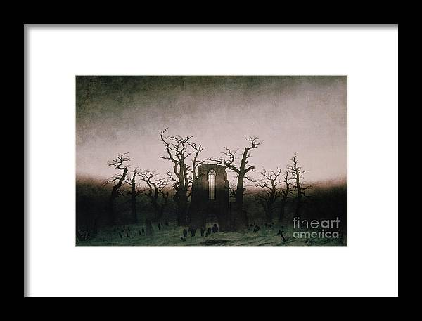 Bal5335 Framed Print featuring the painting Abbey In The Oakwood by Caspar David Friedrich