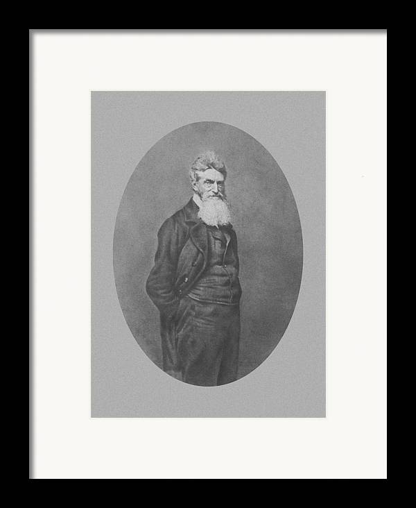 John Brown Framed Print featuring the photograph Abolitionist John Brown by War Is Hell Store