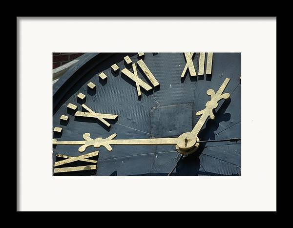 Clock Framed Print featuring the photograph About Time by Eric Workman