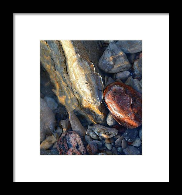 Abstract Framed Print featuring the digital art Above And Below Water Two by Lyle Crump