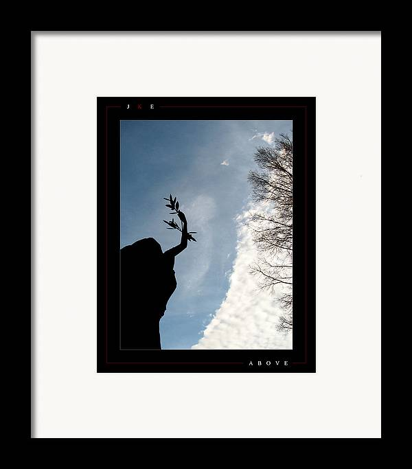 Angel Framed Print featuring the photograph Above by Jonathan Ellis Keys