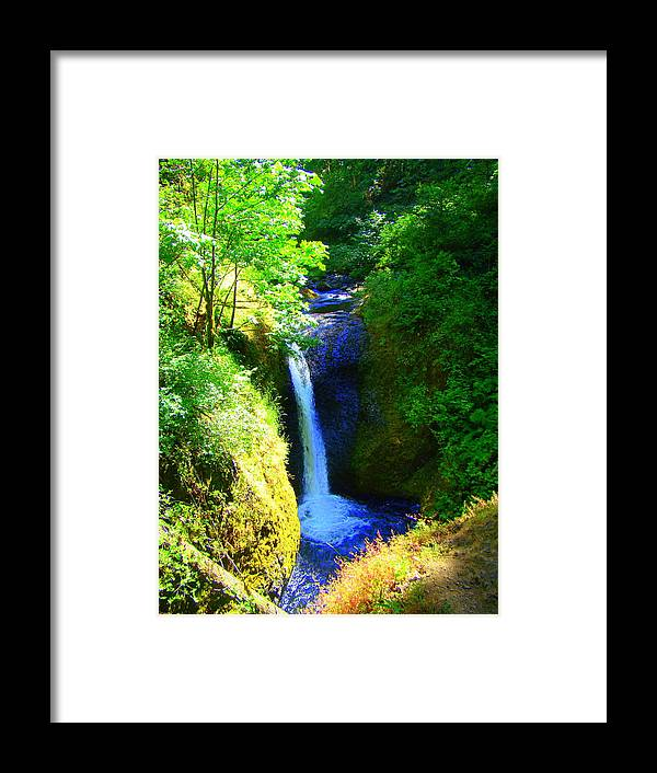 Falls Framed Print featuring the photograph Above Onionta Falls by Lisa Rose Musselwhite