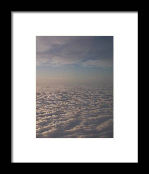 Sky Clouds Aerial White Blue Calm Serene Framed Print featuring the photograph Above The Clouds by Anna Villarreal Garbis