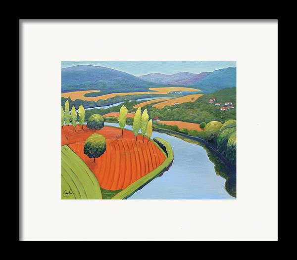 River Framed Print featuring the painting Above The Lot by Gary Coleman