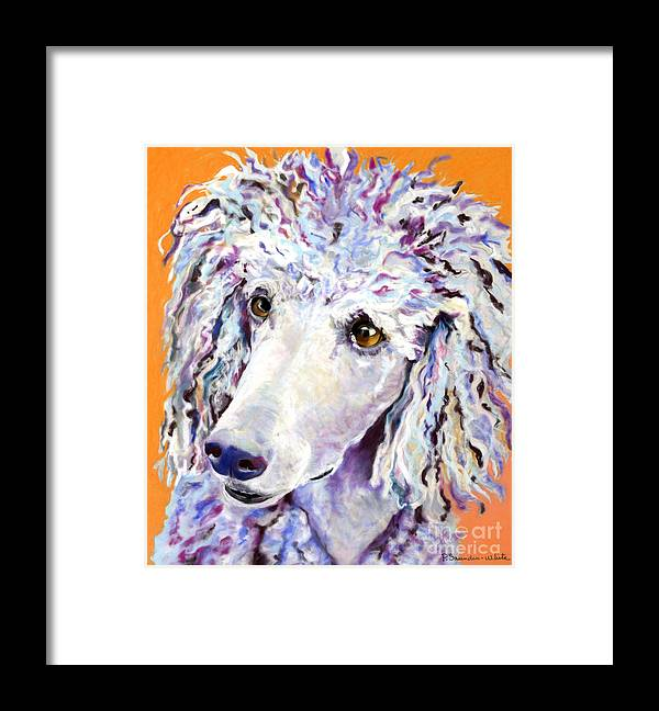 Standard Poodle Framed Print featuring the pastel Above The Standard  by Pat Saunders-White