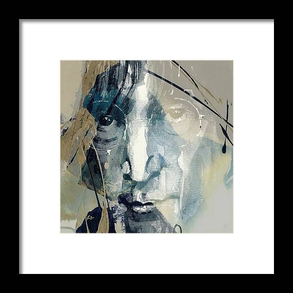John Lennon Framed Print featuring the mixed media Above Us Only Sky by Paul Lovering