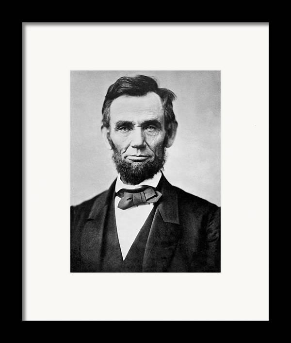 Abraham Lincoln - Portrait Framed Print by International ...