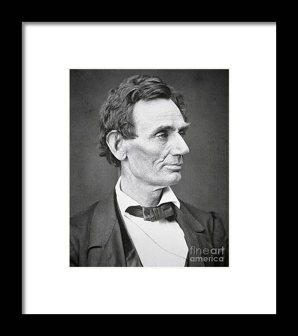 Abraham Lincoln Framed Print featuring the photograph Abraham Lincoln by Alexander Hesler