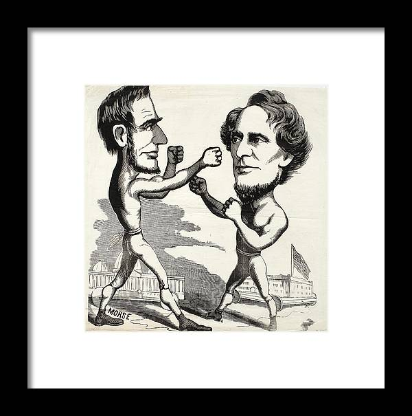 Abraham Lincoln Boxing With Jefferson Davis Framed Print by ...
