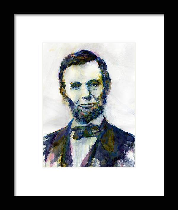 Abraham Framed Print featuring the painting Abraham Lincoln Portrait Study 2 by Hailey E Herrera