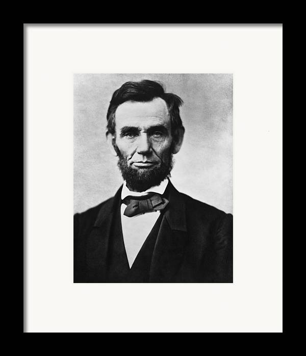 Abraham Lincoln Framed Print featuring the painting Abraham Lincoln by War Is Hell Store