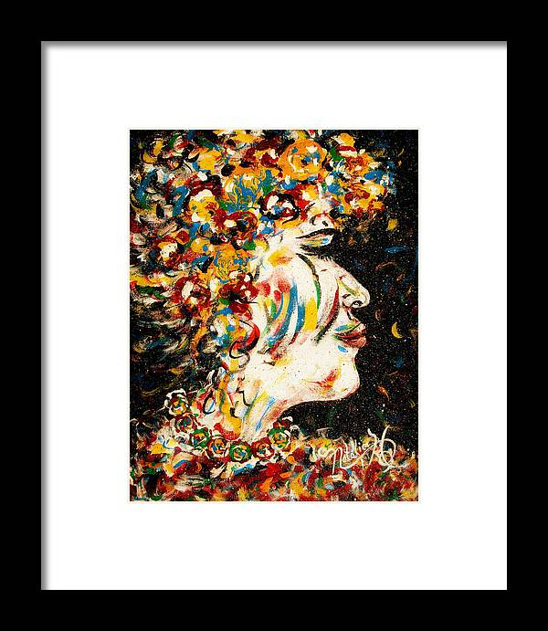 Woman Framed Print featuring the painting Absolutely Not by Natalie Holland