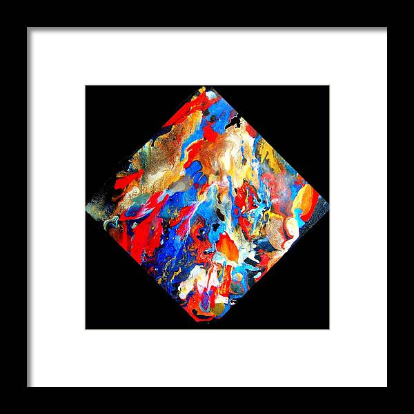 Abstract Framed Print featuring the painting Abstract - Evolution Series 1001 by Dina Sierra