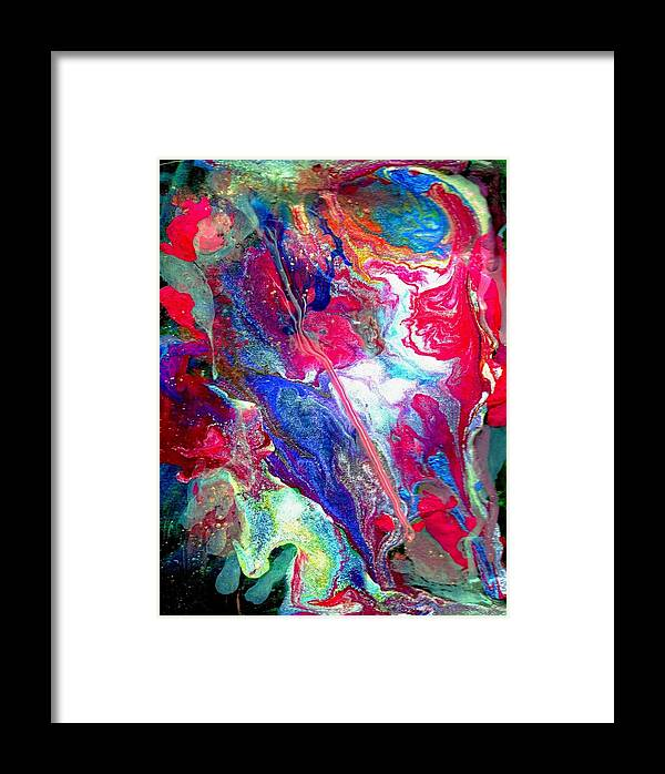 Flow Framed Print featuring the painting Abstract - Evolution Series 1003 by Dina Sierra