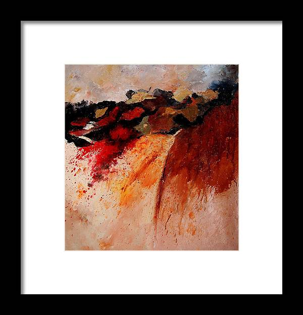 Abstract Framed Print featuring the painting Abstract 010607 by Pol Ledent