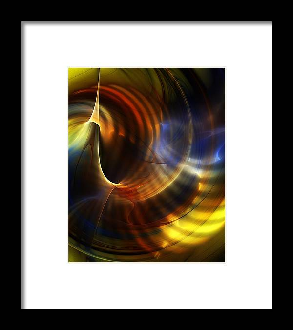 Fine Art Framed Print featuring the digital art Abstract 040511 by David Lane