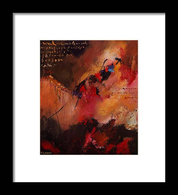 Abstract Framed Print featuring the painting Abstract 0408 by Pol Ledent