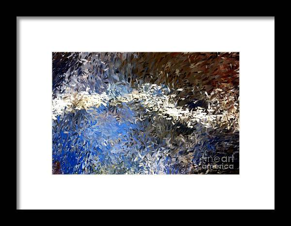 Abstract Framed Print featuring the digital art Abstract 06-03-09b by David Lane