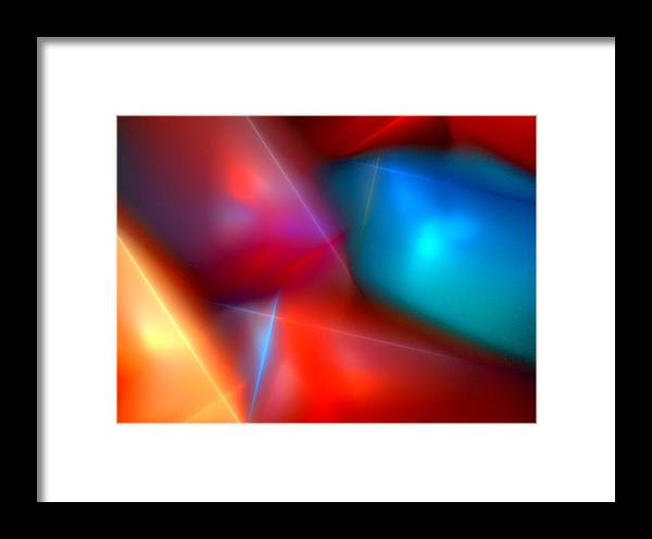 Digital Painting Framed Print featuring the digital art Abstract 060110 by David Lane