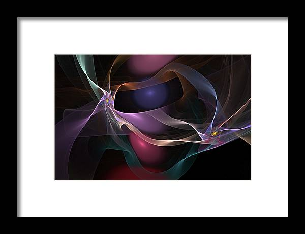 Fine Art Framed Print featuring the digital art Abstract 062310 by David Lane