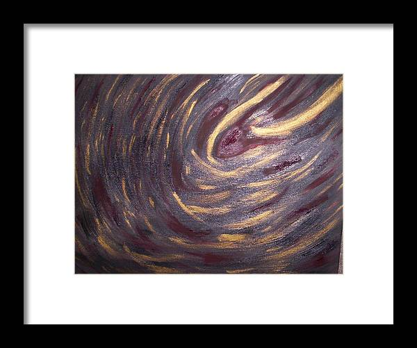 Black Framed Print featuring the painting Abstract 100 by Becca Haney