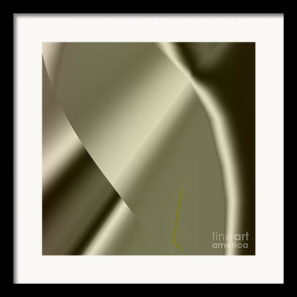 Abstract Framed Print featuring the painting Abstract 1002 by Gerlinde Keating - Galleria GK Keating Associates Inc