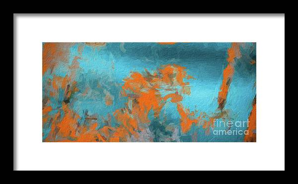 Brushstroke Framed Print featuring the digital art Abstract 104 Digital Oil Painting On Canvas Full Of Texture And Brig by Amy Cicconi