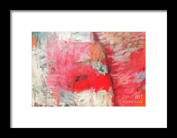 Brushstroke Framed Print featuring the digital art Abstract 107 Digital Oil Painting On Canvas Full Of Texture And Brig by Amy Cicconi