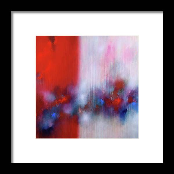 Abstract Framed Print featuring the painting Abstract Painting 137 by Bernd Weckenmann